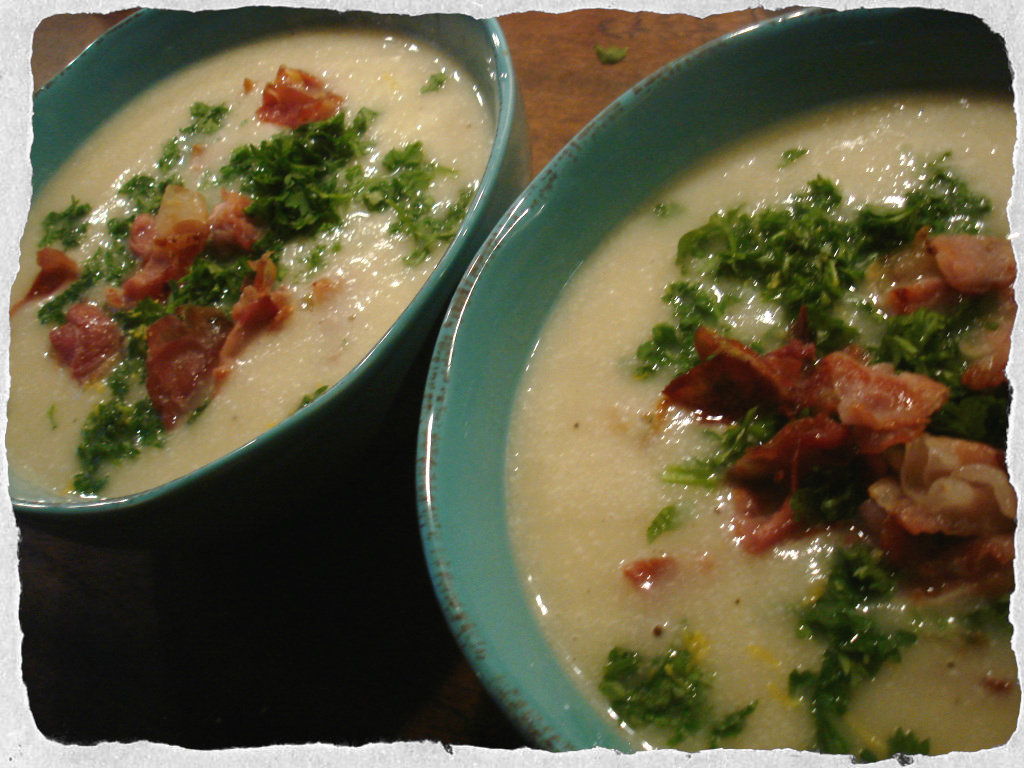Cauliflower soup with crispy Pancetta and fresh parsley | Nilssons ...