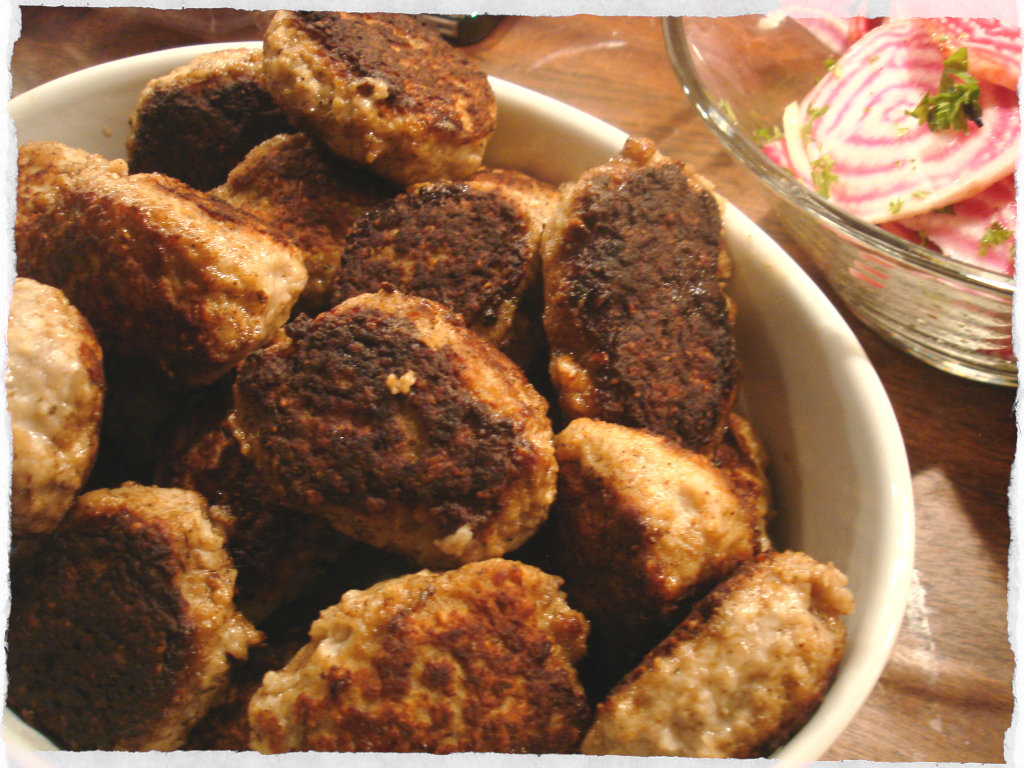 pork frikadeller of pork veal and beef its made from minced pork veal ...