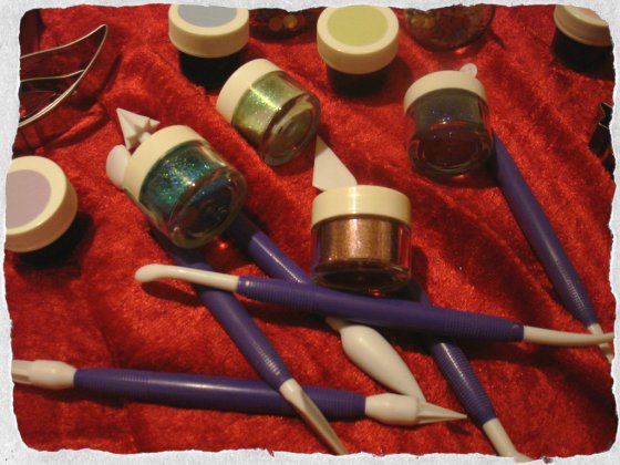 Glitter and fondant tools, Christmas gifts