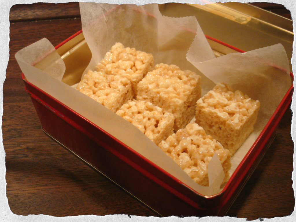 Homemade rice krispies treats