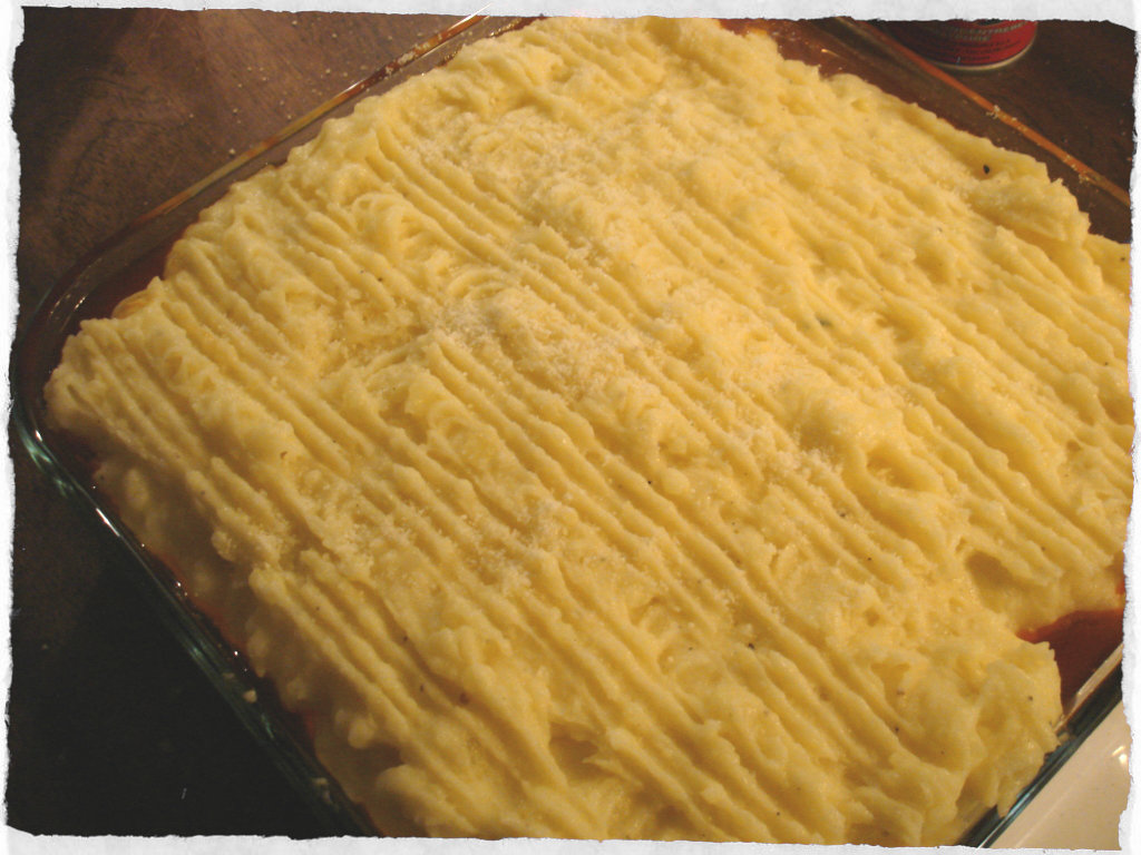 Cottage Pie pre oven