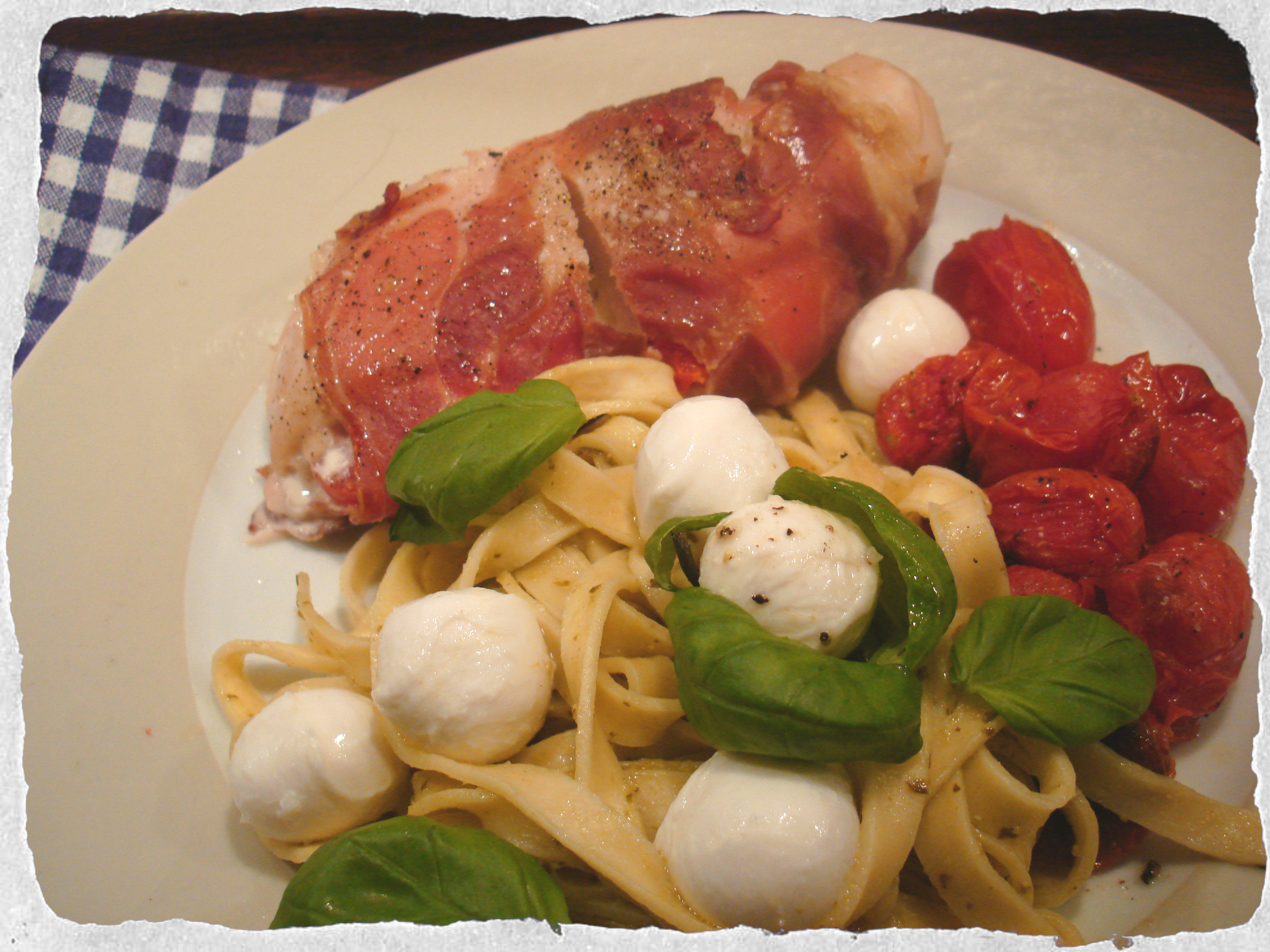 Caprese salad inspired dinner