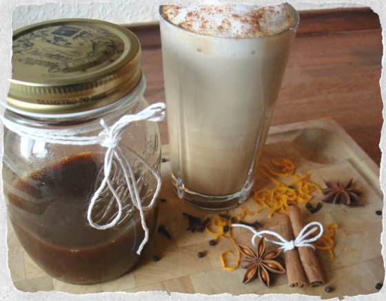 Chai latte made with chai concentrate