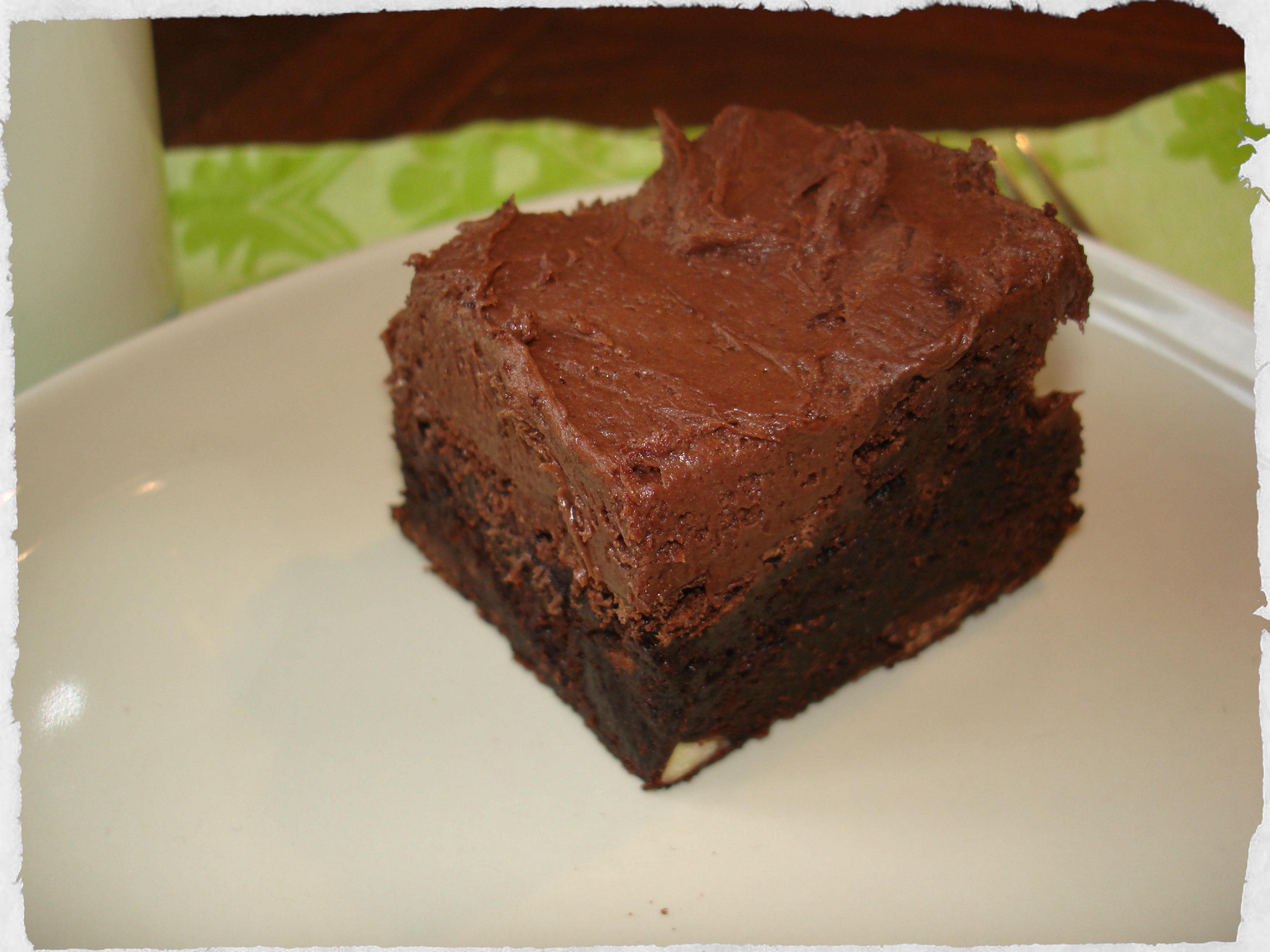 homemade brownie