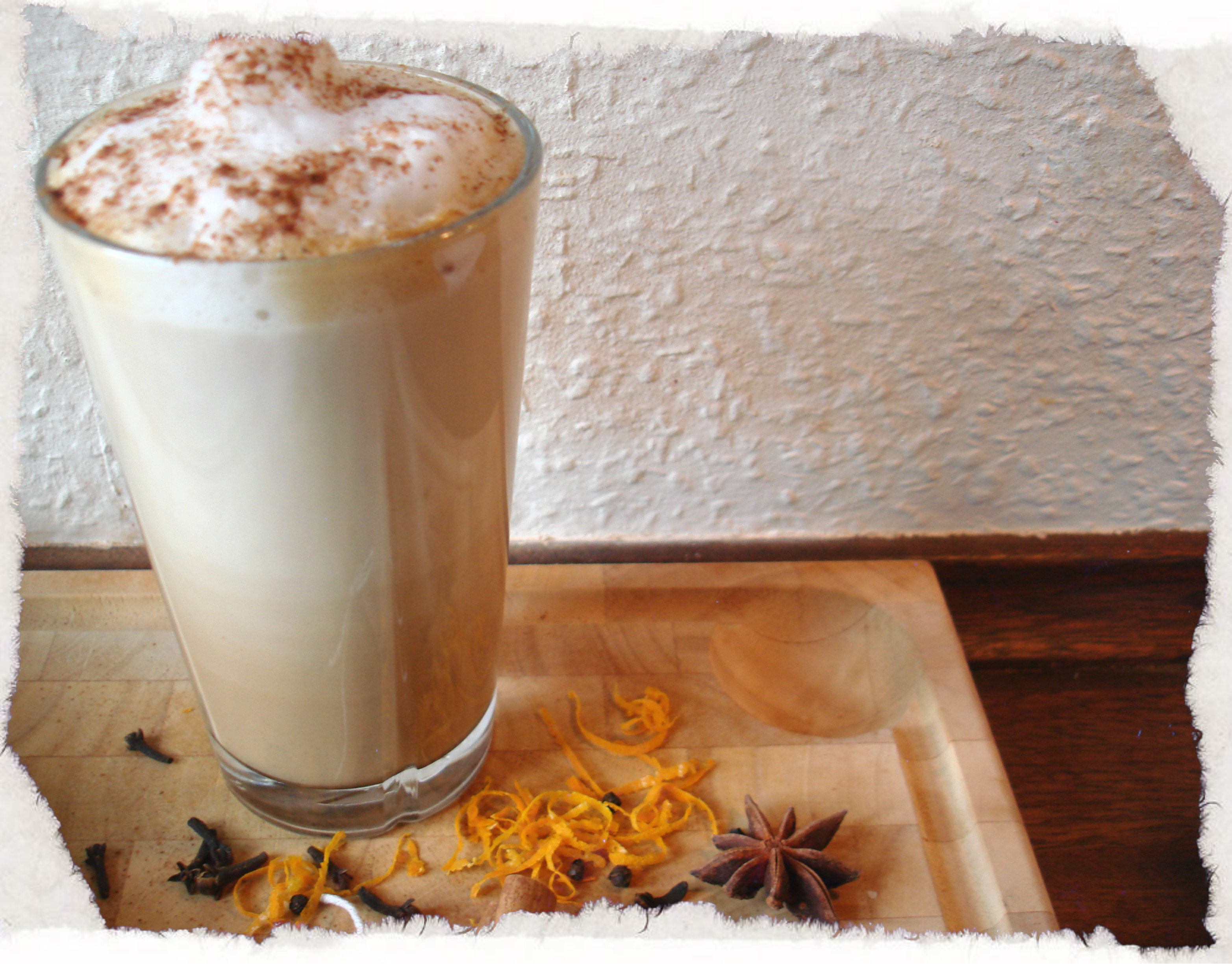 Homemade Chai tea latte with chai concentrate