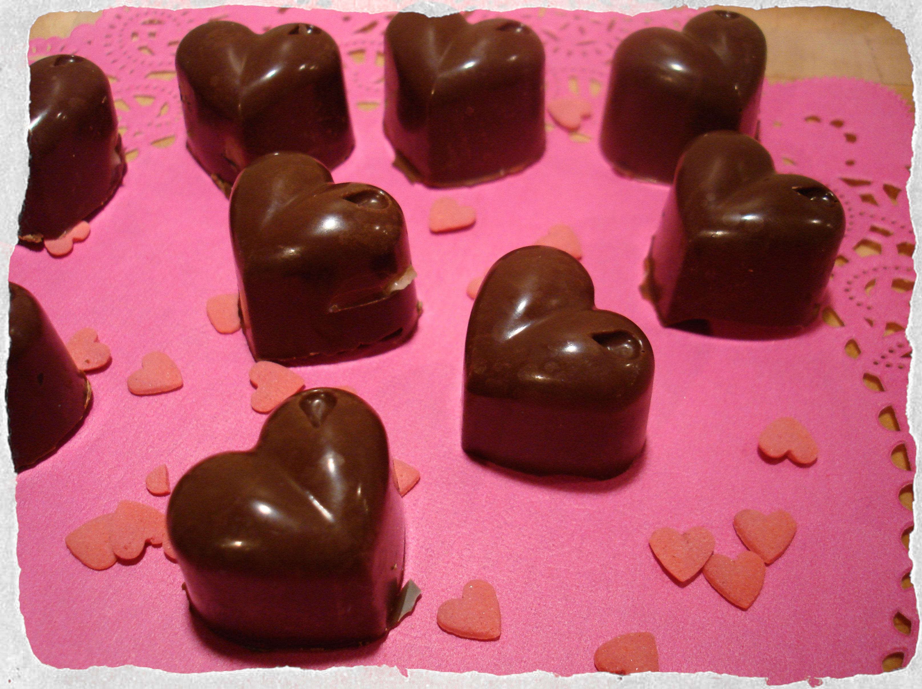 Homemade Valentines chocolates