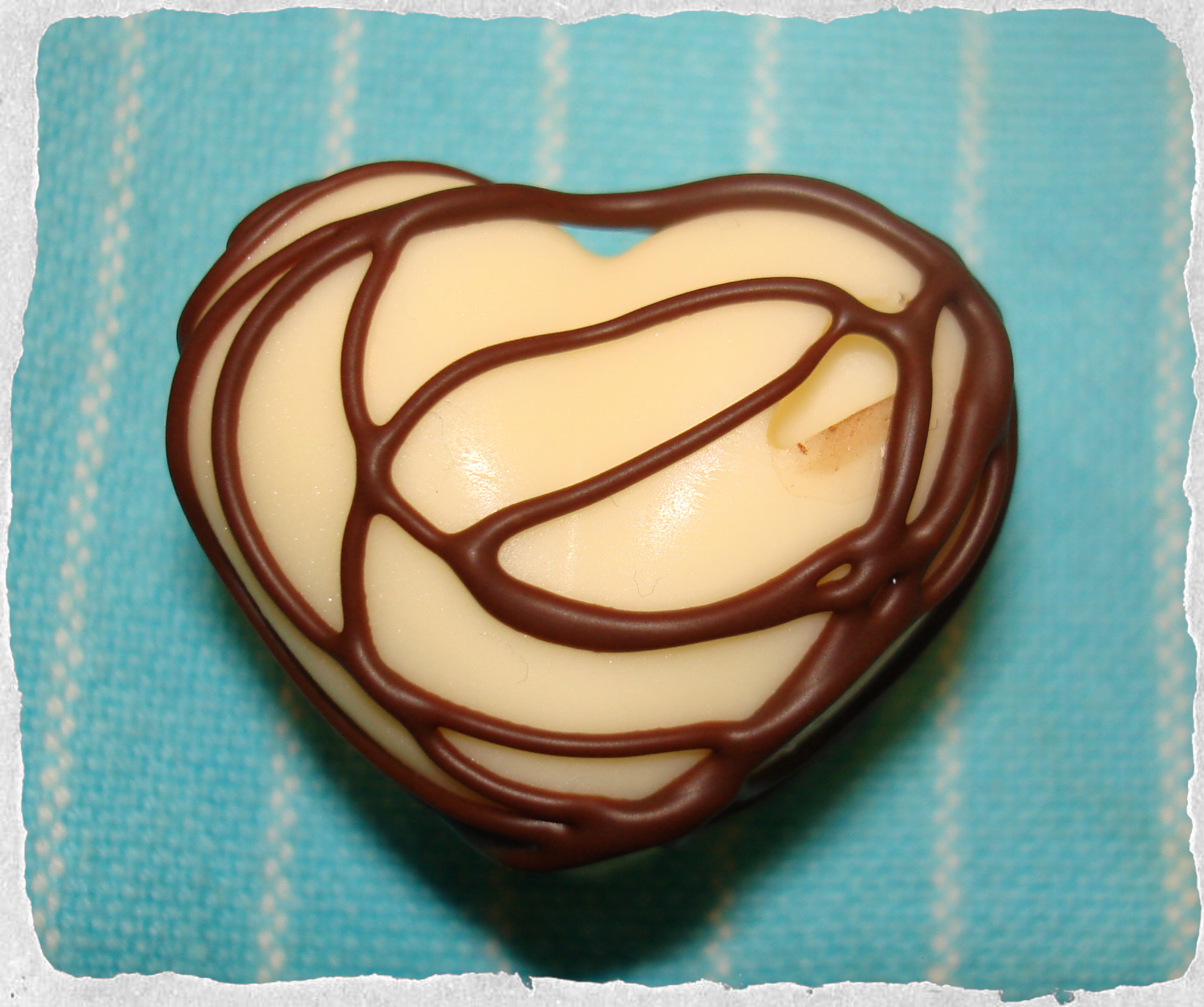 White chocolate heart, homemade